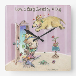 Love is Being Owned By A Dog Clock