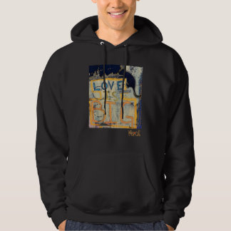 """Love Is BIG - Love Animals"" by Mike Korn Hoodie"