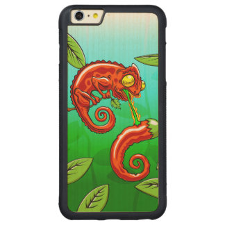 love is blind - chameleon fail carved maple iPhone 6 plus bumper case