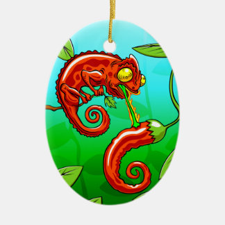 love is blind - chameleon fail christmas ornament