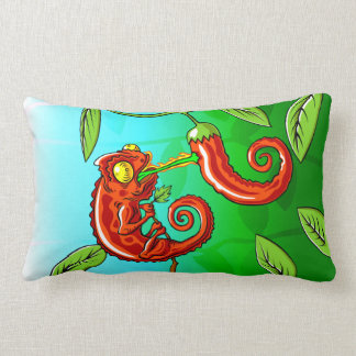 love is blind - chameleon fail lumbar pillow