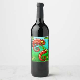 love is blind - chameleon fail wine label