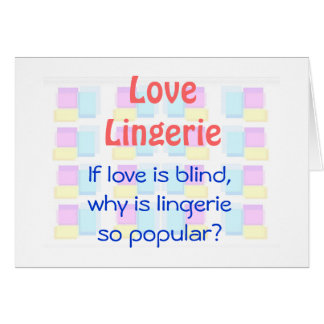 Love is Blind Greeting Card