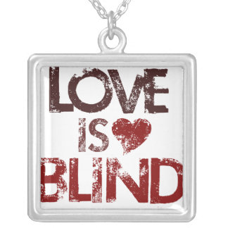 Love is Blind Square Pendant Necklace