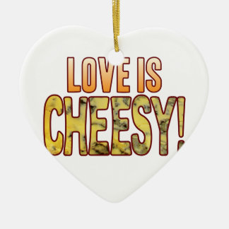 Love Is Blue Cheesy Ceramic Heart Decoration