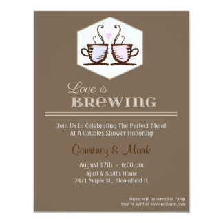 Love is brewing card