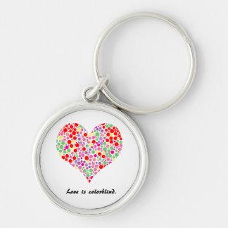 Love is colorblind. Premium Keychain
