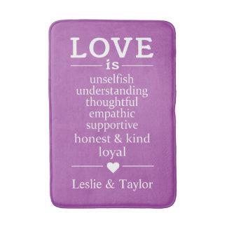 Love Is … custom names & color bath mats