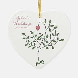 Love is deeply rooted Maid of Honor Heart Ornament