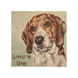 Love is Dog watercolor print