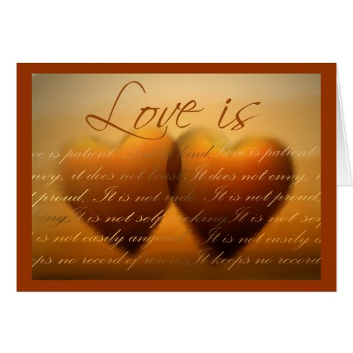 Love is ... elegant heart card