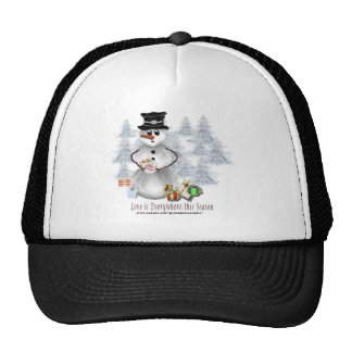 Love is Everywhere Snowman Hat