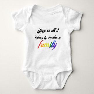 Love is Family - Script Baby Bodysuit