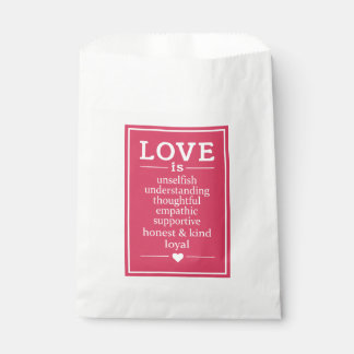 Love Is … favor bags