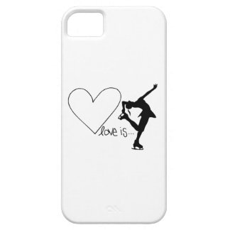 Love is Figure Skating, Girl Skater & Heart Barely There iPhone 5 Case