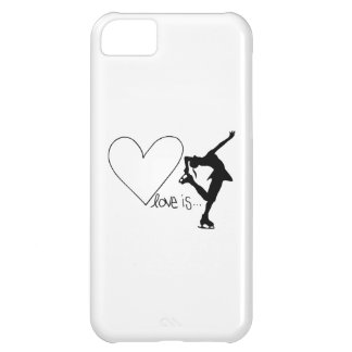 Love is Figure Skating, Girl Skater & Heart Cover For iPhone 5C