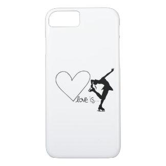 Love is Figure Skating, Girl Skater & Heart iPhone 7 Case