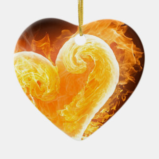 Love Is Fire Ornaments