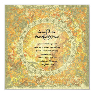Love is Flame Poem Autumn Fire Wedding Invite