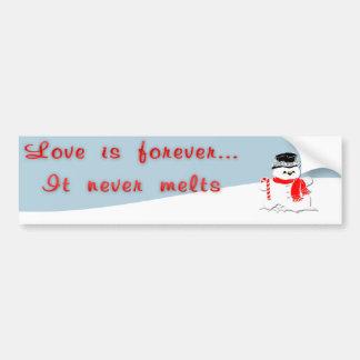 Love is Forever Car Bumper Sticker