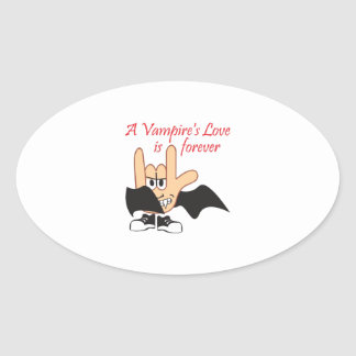 LOVE IS FOREVER OVAL STICKER