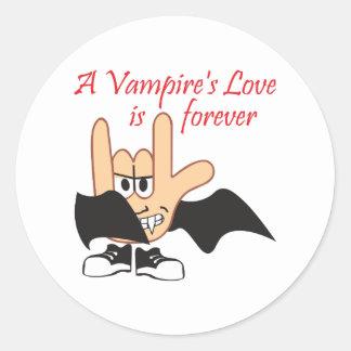 LOVE IS FOREVER ROUND STICKER