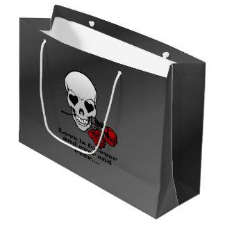 Love is Forever Skull Large Gift Bag