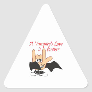 LOVE IS FOREVER TRIANGLE STICKERS