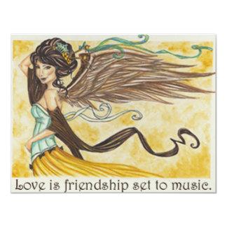 Love is Friendship 11 Cm X 14 Cm Invitation Card