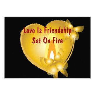 Love Is Friendship Set On Fire Invitation Card