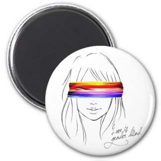 Love Is Gender Blind 6 Cm Round Magnet