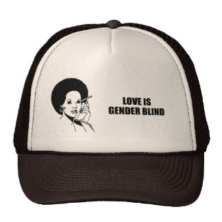 Love is gender blind trucker hat