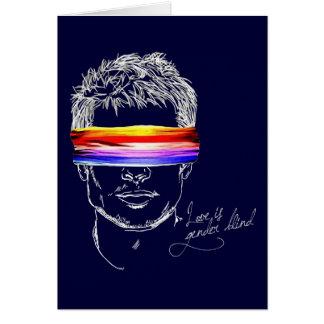 Love Is Gender Blind Greeting Card