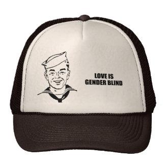 Love is gender blind mesh hats
