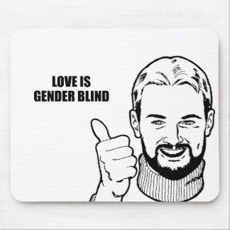 Love is gender blind mouse pad
