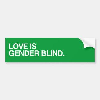 LOVE IS GENDER BLIND png Bumper Sticker