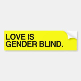 LOVE IS GENDER BLIND - .png Bumper Sticker