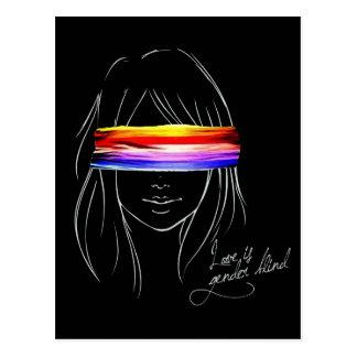 Love Is Gender Blind Post Card