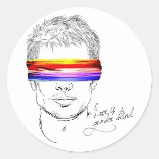 Love Is Gender Blind Round Sticker