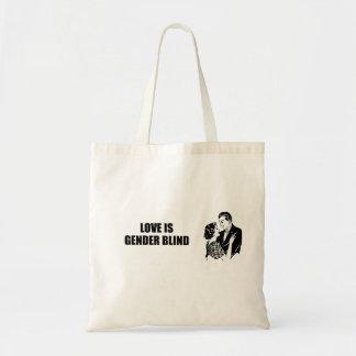Love is gender blind budget tote bag