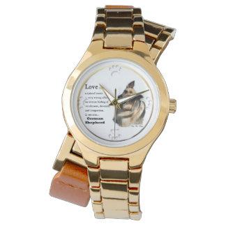 Love Is German Shepherd Gifts Wrist Watches