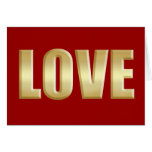 Love is golden Love logo Greeting Card