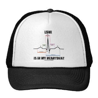 Love Is In My Heartbeat ECG EKG Electrocardiogram Hat