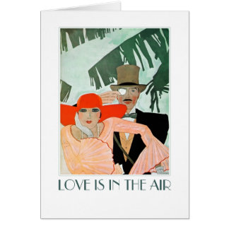 Love is in the Air. Art Deco Valentine's Day Cards