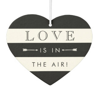 Love Is In the Air | Black & White Wedding Favor