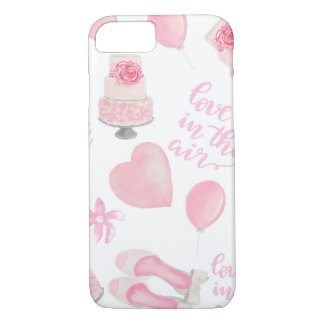 Love Is In The Air Blush Pink Wedding Shoes Cake iPhone 8/7 Case