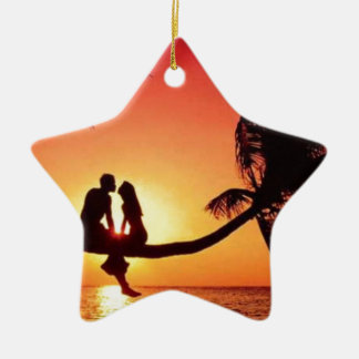 love is in the air ceramic star decoration