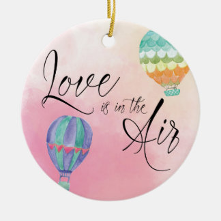 Love is in the air christmas ornament
