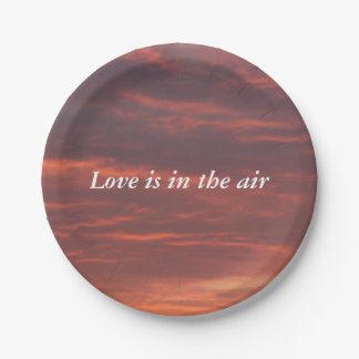 Love is in the air Custom Paper Plates 7 in