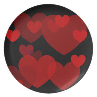 Love is in the Air Hearts Plate